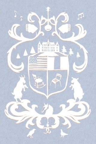 Wedding invitation wedding invite hand-made paper cut-out winter wedding coat of arms