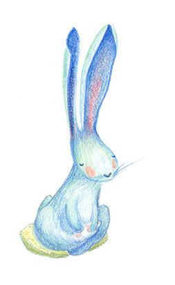 bunny meditating